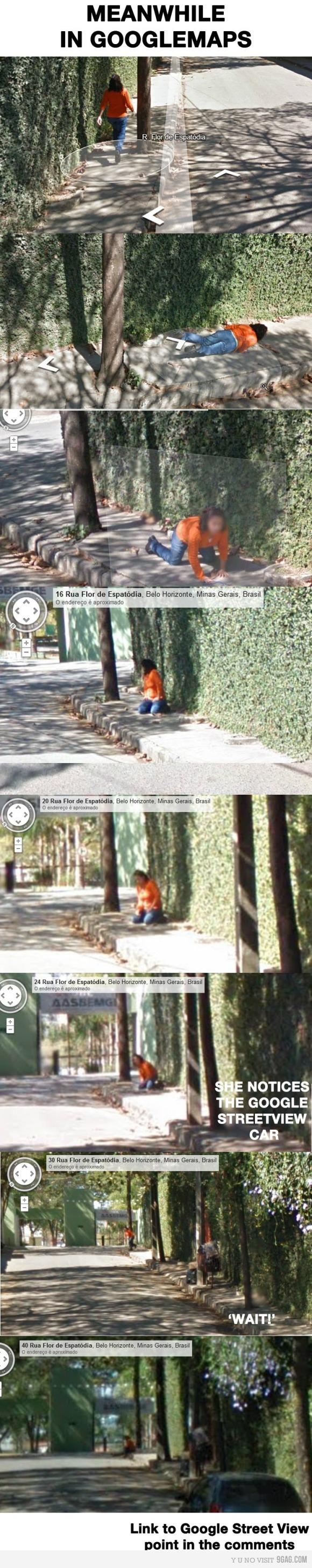 Fall in Google Street View