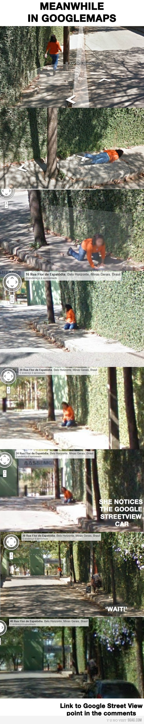 Fall in Google Street View